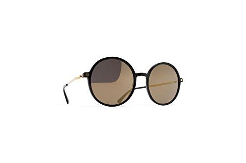 Mykita Lite Sun ANANANA 919 - Gafas de sol unisex, color negro y dorado