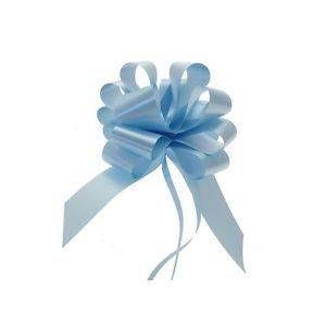 Star New Flower Spa Fiocco Rapido Azzurro Celeste 50 mm (50 Pezzi) Addobbi Decorazioni Nascita Bimbo