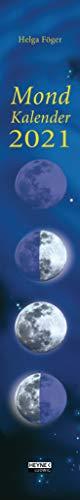 Mondkalender 2021: Wand-Streifenkalender 11,0 x 70,0 cm