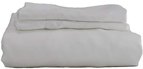 Hotel Sheets Direct 100% Bamboo Duvet Cover 3 Piece Set - Better Than Silk - 1 Duvet Cover, 2 Pillow Shams with Corner Ties and Zipper Closure (King, White)