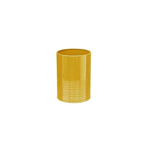 Pot à ustensiles et egouttoir - 11 x 15 cm - Métal - Jaune