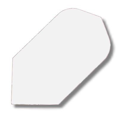 Dartfly Nylon Slim, weiß. .Der Preis gilt per Set (3 St.) Nylon-Flys bestehen aus reißfester Textilfaser und zählen damit zu den qualitativ hochwertigsten Flys mit der längsten Lebensdauer. Ausführungen: Slim-Form.