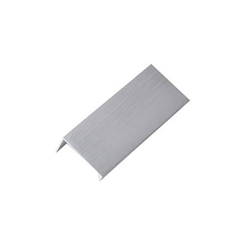 DOITOOL Tirador Invisible del gabinete Tirador de aleación de Aluminio gabinete de la Cocina Perilla del cajón de la Puerta Tira 2 Piezas (Plata / 64 mm)