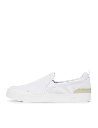CARE OF by PUMA Men's Slip On Court Low-Top Sneakers, White White Oatmeal, US 10.5