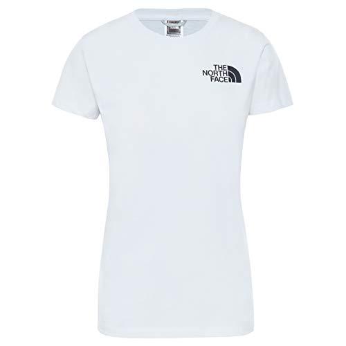 The North Face - Camiseta para Mujer Half Dome - Manga Corta - White, XS