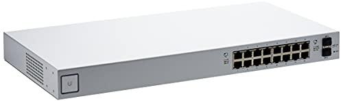 Ubiquiti Networks UniFi US-16-150W Managed network switch Gigabit Ethernet (10 100 1000) Power over Ethernet (PoE) Rack mounting, 1U, Wall mountable), argento