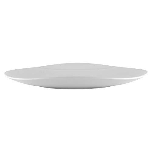 "GET OP-1813-W Oval Melamine Serving Platter, 18"" x 13"", White"