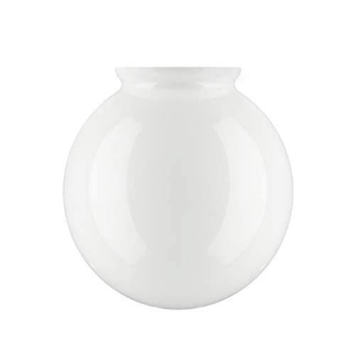 """Ronde Glazen lampenkap voor plafondventilator, 15cm Diameter (6""""), Wit"""