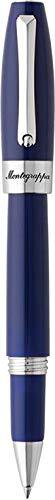 Montegrappa'fortuna–Bolígrafo de punta rodante Palladium/azul