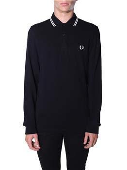 Fred Perry FP LS Twin Tipped Shirt Camiseta térmica, Negro, L para Hombre