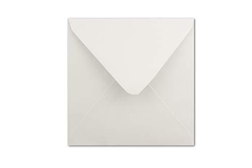 20 Briefumschläge quadratisch 16x16 cm weiss 90g/qm