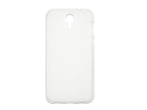 etuo Hülle für Doogee Homtom HT3 Pro - Hülle FLEXmat Case - Weiß Handyhülle Schutzhülle Etui Case Cover Tasche für Handy