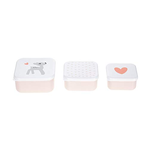 Laessig 1310013784 Lunch Box, Light Pink