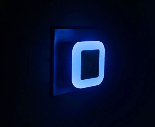 LED Plug-in Night Lights, Soft Blue Glow, Energy Efficient Nite Lights with Smart Dusk to Dawn Light Sensor [Pack of 2]