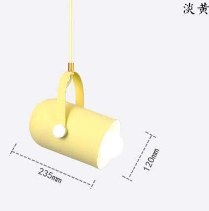 MTX Ltd Lustre Plafonnier Simple Moderne Personnalité Jaune Chambre pour Enfants Chambre Petit Lustre Bar Restaurant Cuisine Lustre Créatif
