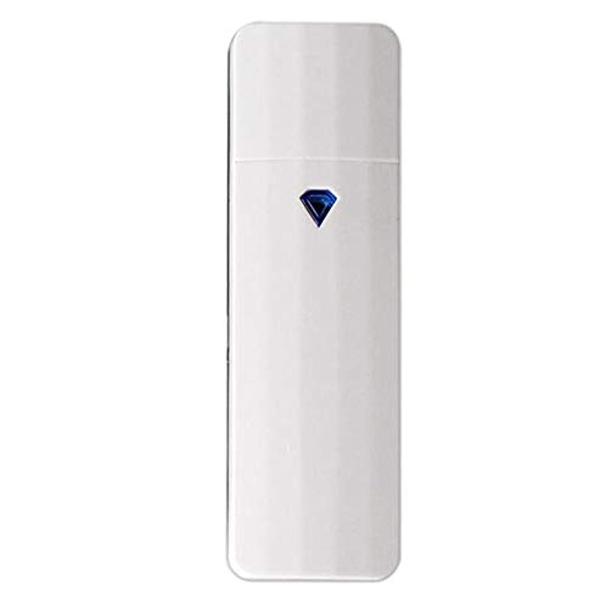 ガレージポルノ発言するSODIAL 携帯用ナノ?スプレー、噴霧、便利なフェイシャル?スチーマー、噴霧器、Usb充電式面部保湿水和スプレー装置、美容器具(白色)