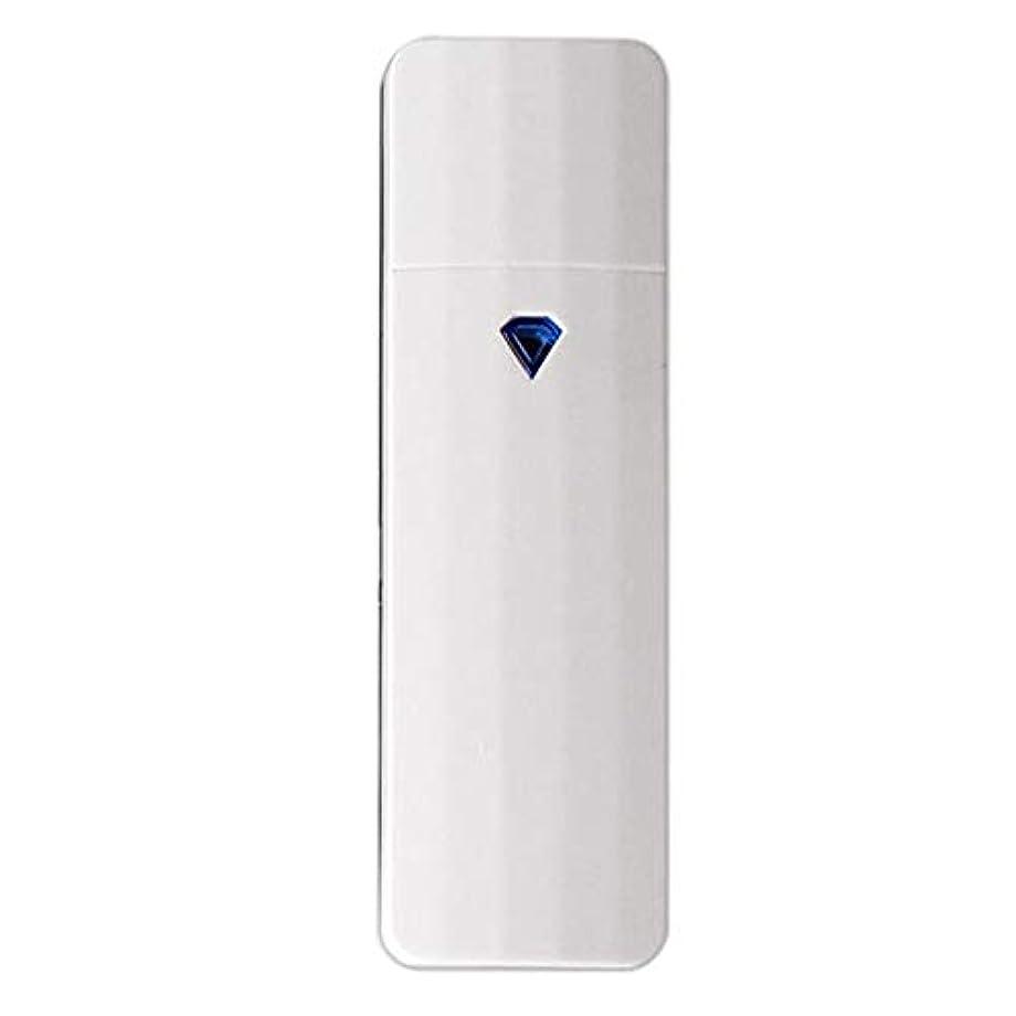 後方フラッシュのように素早く手を差し伸べるCUHAWUDBA 携帯用ナノ?スプレー、噴霧、便利なフェイシャル?スチーマー、噴霧器、Usb充電式面部保湿水和スプレー装置、美容器具(白色)