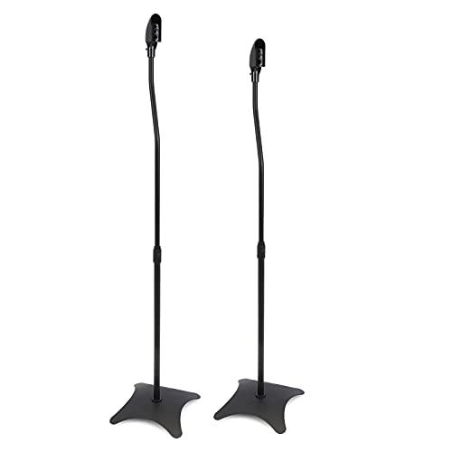 BeMatik - Soportes para altavoz de pie en color negro