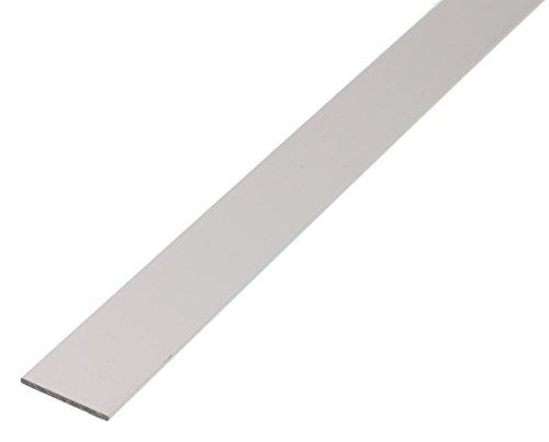 GAH-Alberts 473013 Flachstange-Aluminium, silberfarbig eloxiert, 1000 x 15 x 2 mm