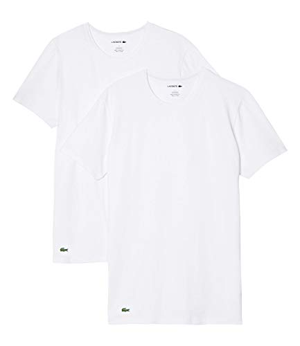 Lacoste Herren TH3455 Pyjama-Tops, Blanc, XL