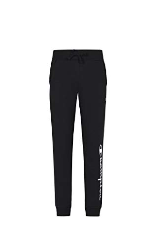 Champion Girls French Terry Pull On Sweatpants Jogger Kids Clothign (Black Heritage, X-Large)