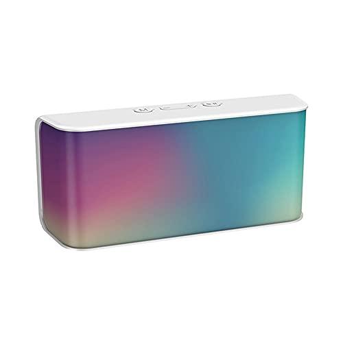 C3 Altavoz inalámbrico 3D estéreo FM Radio Altavoz portátil al aire libre TF tarjeta Bluetooth compatible con micrófono blanco