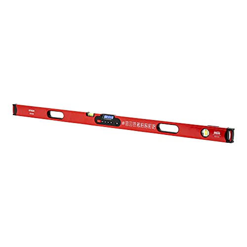 STIER Digitale Wasserwaage, SDW-1200 LCD-Display, ±0,2°, 120 cm, vertikal & horizontal einsetzbar, HOLD-Funktion