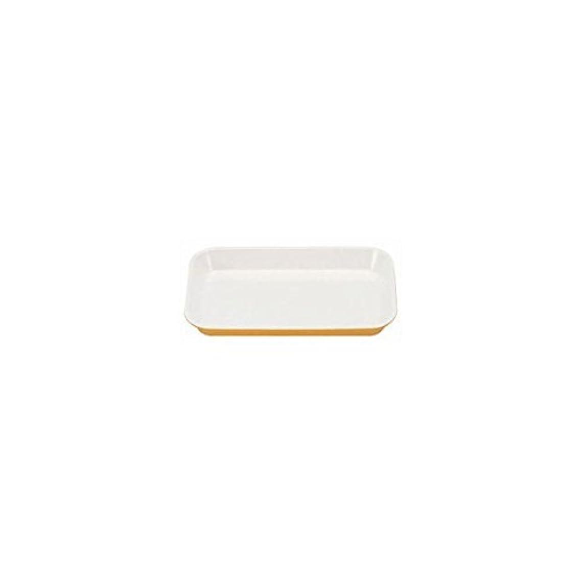 壁リーフレット三メラミン デリカバット 黄内白 小 尺0寸