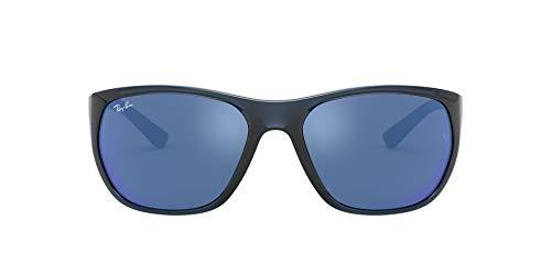 Ray-Ban 0RB4307 Gafas de sol, Transparente Blue, 61 para Hombre