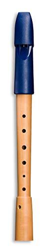 Mollenhauer Blockflöte Sopran Blockflöte Deutsch 1053 Prima, Holz/Kunststoff, nachtblau, Einfachlöcher
