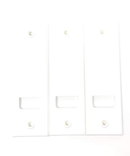 jkhandel Abdeckplatte (Blende) mit Lochabstand 13,5cm eckig weiß - 3 Stück -