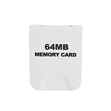 WiCareYo Weiß 64M Speicherkarte für Wii NGC Gamecube Konsole