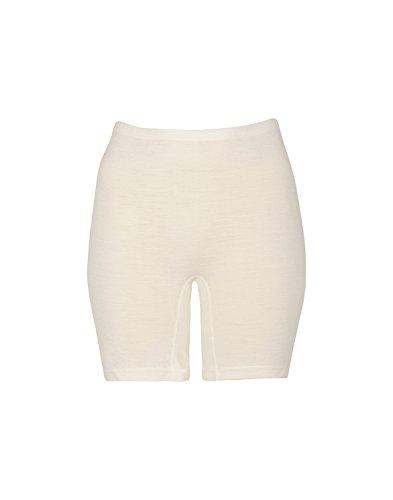 Dilling Merino Shorts für Damen - Unterwäsche aus 100% Bio-Merinowolle Natur 42