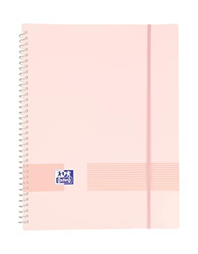 Oxford - Carpeta 20 fundas, tapa de plástico opaco, color rosa chicle