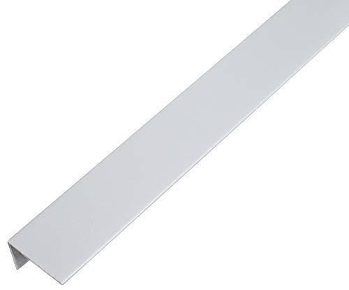 GAH Alberts 484668 Cornière-Plastique, gris alu, 1000 x 25 x 15 mm