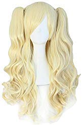 TSNOMORE Long Curly Lolita Cosplay Wig + 2 Clip on Pigtail Ponytail...