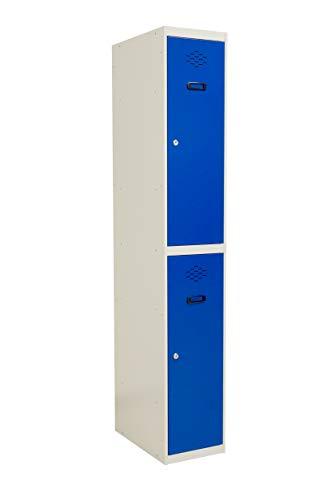 SETROC Taquilla metálica 2 Puertas. Módulo de 1 Cuerpo. Medidas 1800x300x500 mm.