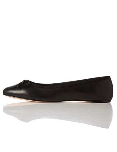 Marca Amazon - find. Leather Ballet Pump - Bailarinas Mujer