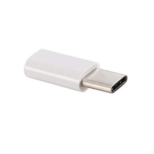 USB-C/Type-C 3.1 Hombre al Adaptador de convertidor Femenino Micro USB, Longitud: 3 cm, para Galaxy S8 & S8 + / LG G6 / Huawei P10 y P10 Plus/XIAOMI MI6 & MAX 2 y Otros teléfonos Inteligentes