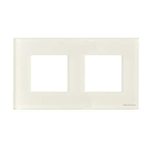 Niessen zenit - Marco 2 elementos serie zenit cristal blanco