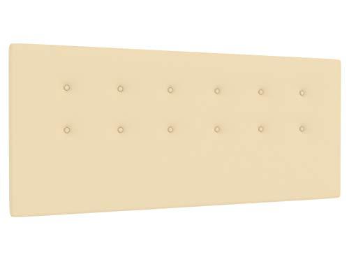 LA WEB DEL COLCHON - Cabecero tapizado Siros para Cama de 105 (115 x 70 cms) Beige | Cama Juvenil | Cama Matrimonio | Cabezal Cama |