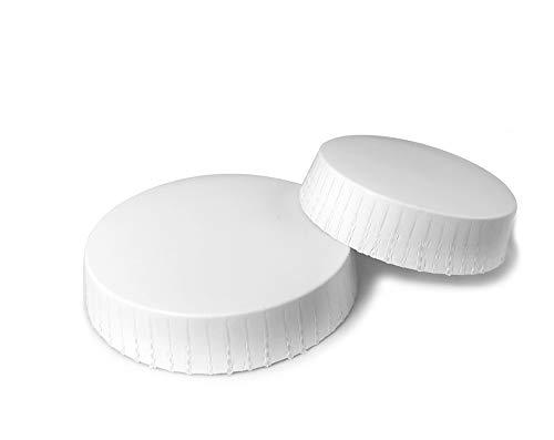 Papierglas-Abdeckungen – 1.000 pro Packung | 86 mm | 74 mm | 60 mm, weiß, 86 mm