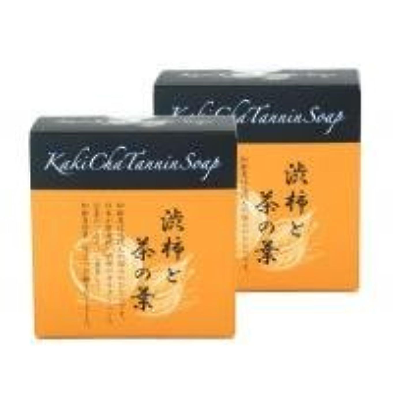 拍手トランスペアレント病柿茶タンニンソープ(100g)×2個 K00024W