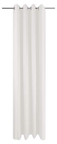 Ösenschal Vorhang Weiß Uni Blickdicht Lichtdurchlässig HxB 245x145 cm - Dekoschal Gardine