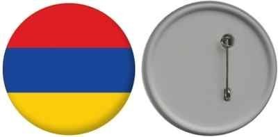 MadAboutFlags Button/Badge Flagge Fahne Armenien - 58mm
