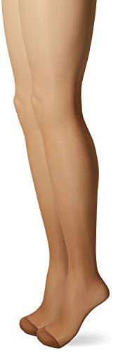 Dim Sublim Ventre Plat - Collants - 15 Den - Lot de 2 - Femme - Beige (Gazelle) - FR: 3 (Taille Fabricant: 3)