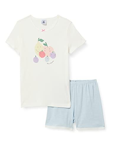 Petit Bateau 5996901 Pajama Set, Marshmallow/Multico, 6 Ans Girls