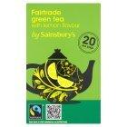 Sainsburys (セインズベリー) グリーンティーバッグとレモン フェア トレード x 20