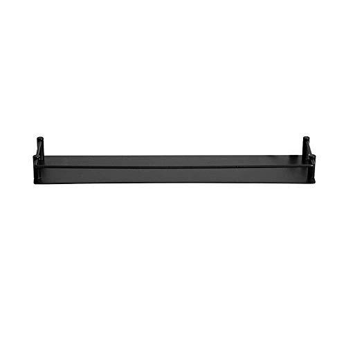 Badkamerrekplank, badkamerplank 304 roestvrij staal, aan de muur gemonteerd keukenrek, stijlvolle toilettas opbergrek, badkameraccessoires, zwart (maat: 40 cm)