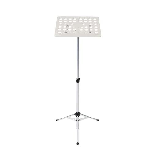 Atril plegable, soporte para partituras totalmente ajustable, atril de metal, atril portátil con trípode, para partituras de músico(Silver)